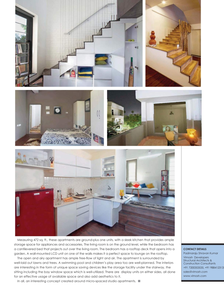 Architect Varsha Prabhu featured in the October 2015 issue of Society Interiors Magazine with some of the best Architects and Interior Designers in Hyderabad